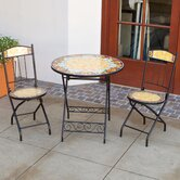 Red Sunflower Burst Decorative 3 Piece Bistro Set