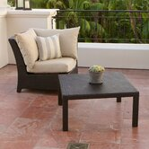 Slate Deep Seeting Corner Chair with Cushions and Coffee Table