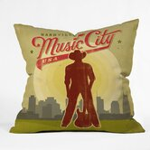 Anderson Design Group Polyester Music City Indoor/Outdoor Throw Pillow