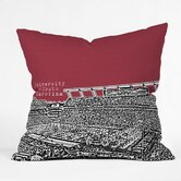 Bird Ave University of South Carolina Dark Throw Pillow