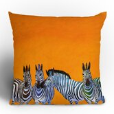 Clara Nilles Candy Stripe Zebras Throw Pillow
