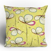 Rachael Taylor Floral Umbrellas Throw Pillow