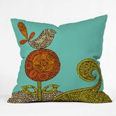 Valentina Ramos Polyester Bird In The Flower Indoor/Outdoor Throw Pillow
