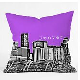 Bird Ave Denver Throw Pillow