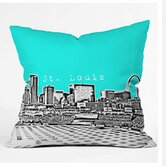Bird Ave St Louis Throw Pillow