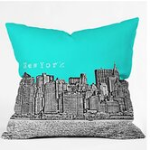 Bird Ave New York Throw Pillow