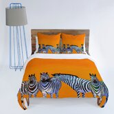 Clara Nilles Candy Stripe Zebras Duvet Cover Collection