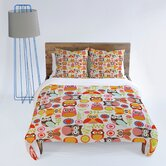Valentina Ramos Cute Little Owls Duvet Cover Collection