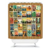 Anderson Design Group City Pattern Border Shower Curtain