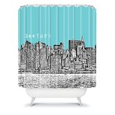 Bird Ave New York Shower Curtain