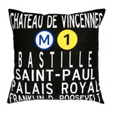 Paris Metro Pillow