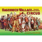 Army of Clowns Hagenbeck  Wallace Trained Wild Animal Circus Canvas Art