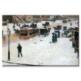 Fifth Avenue in Winter Canvas Wall Art
