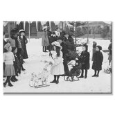 Midwinter Carnival, Children's Parade, Doll Sleds Canvas Wall Art