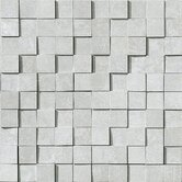 "Reactions 12"" x 12"" Porcelain Brick in Grey"