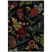 Young Attitudes Butterfly Fantasy Dark Shadow Kids Rug