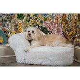 Furry Chaise Dog Bed