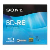 BD-R Blu-Ray Disc, Rewritable, 72mbps, 25GB, Branded