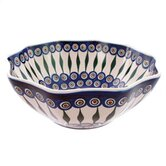 Peacock 27.94cm Hand-Decorated Large Fruit and Salad Bowl