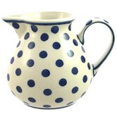 Cobalt Blue Spots Medium Hand-Decorated Jug