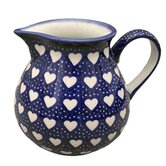 Love Hearts Medium Hand-Decorated Jug