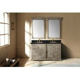 Genna 59.25&quot; Double Bathroom Vanity