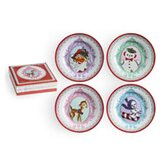 Christmas Cameo Dessert Plate (Set of 4)