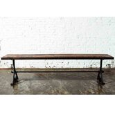 V32 Oak and Cast Iron Picnic Bench