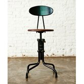 V19R Dining Stool with Backrest