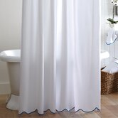 Pique Scalloped Cotton Shower Curtain