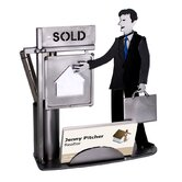 Desk Accessory Real Estate Male Business Card Holder