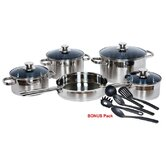Gourmet Chef Stainless Steel 14-Piece Cookware Set
