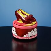 The Wizard of Oz Ruby Slippers Rotating Mini Figurine