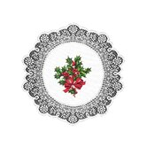 Boughs of Holly Round Doily