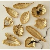 Gold Rush Large Foliage Dishes (Set of 10)