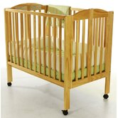 2-in-1 Portable Folding Crib in Natural