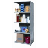Hi-Tech Shelving Medium-Duty Closed Type Add-on Unit with 5 Shelves