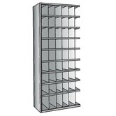 Hi-Tech Metal Bin Shelving Add-on Unit (48) 6&quot; W x 9&quot; H, (6) 6&quot; W x 12&quot; H Bins with 3&quot; Bin Fronts