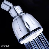 Temperature Sensitive Fixed LED Illuminated Shower Head