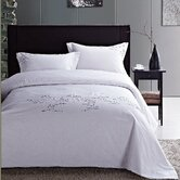 Renoir 100% cotton embroidered 3 piece queen duvet cover set