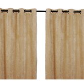 Plush room darkening window panels (set of 2)