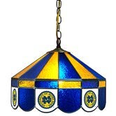 NCAA 16&quot; Stained Glass Swag Lamp