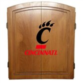 NCAA - Oak Finish Dart Board Cabinet