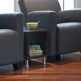Jenny Upholstered Club Lounge Chair and End Table