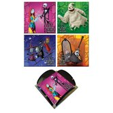 Nightmare Before Christmas Glass Print Coaster (Set of 4)