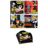 Looney Tunes (Classic Toons) Glass Print Coaster (Set of 4)