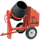 C6-PE1 - 6 cu ft Concrete Mixer Poly - 1 HP Electric w/ Options