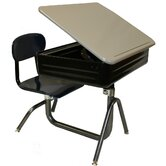 Quick Ship Universal Lift Lid Chair Combo Desk