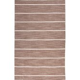 Coastal Living(R) Dhurries Beige/Brown Stripe Rug
