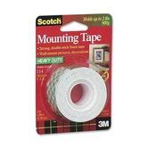 "Mounting Tape, Holds 2 lb., 1""x50"", White"